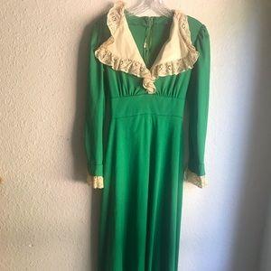 VINTAGE KELLEY GREEN MAXI DRESS